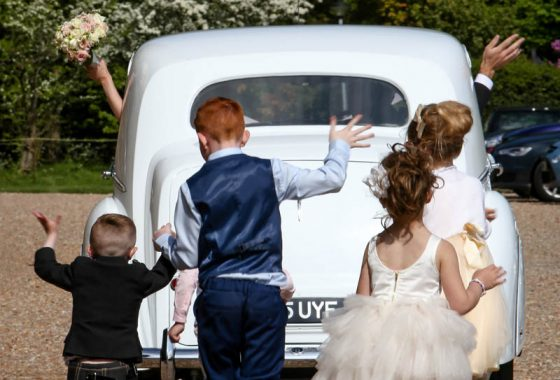 Fettes the Venue - Wedding - Car Leaving Fettes